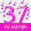 37 let čestitke
