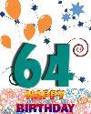 64 let rojstni dan