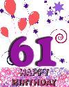 61 rojstni dan