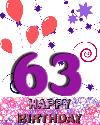 63 rojstni dan