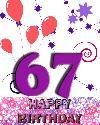 67 rojstni dan