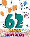 62 let rojstni dan