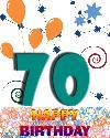 70 let rojstni dan