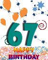67 let rojstni dan