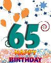 65 let rojstni dan