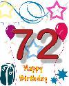72 rojstni dan