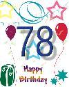 78 let rojstni dan