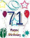 71 let rojstni dan