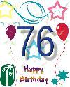 76 let rojstni dan