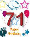 71 rojstni dan