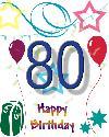 80 let rojstni dan