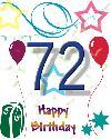 72 let rojstni dan