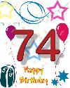 74 rojstni dan