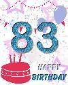 83 let rojstni dan