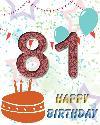 81 rojstni dan