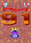 91 rojstni dan