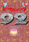 92 rojstni dan